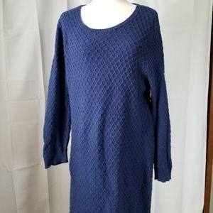 Ann Taylor Loft  Long Sleeve Midi Sweater Dress